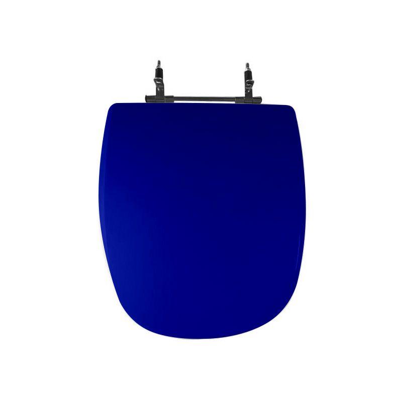 Assento Sanitário Poliéster Para Louça Icasa Sabatini Liso Azul