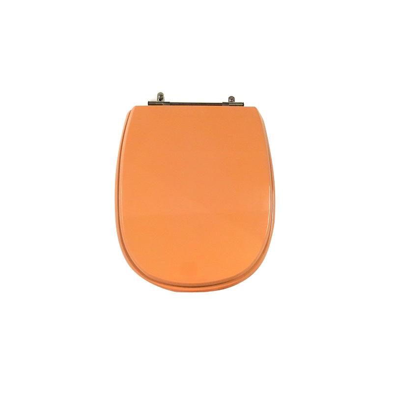 Assento Sanitário Poliéster para Louça Paris (Ideal Standard) Aço Cromado (Reb. Oculto) Papaya