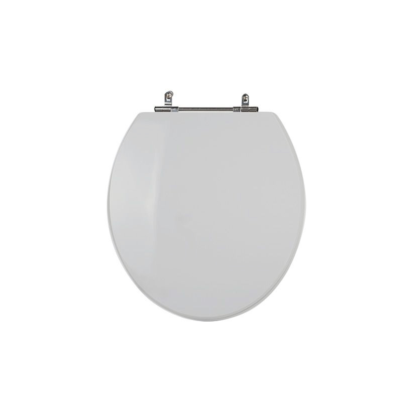 Assento Sanitário Poliéster para Louça Universal/Standard Aço Cromado (Reb. Oculto) Cinza Claro