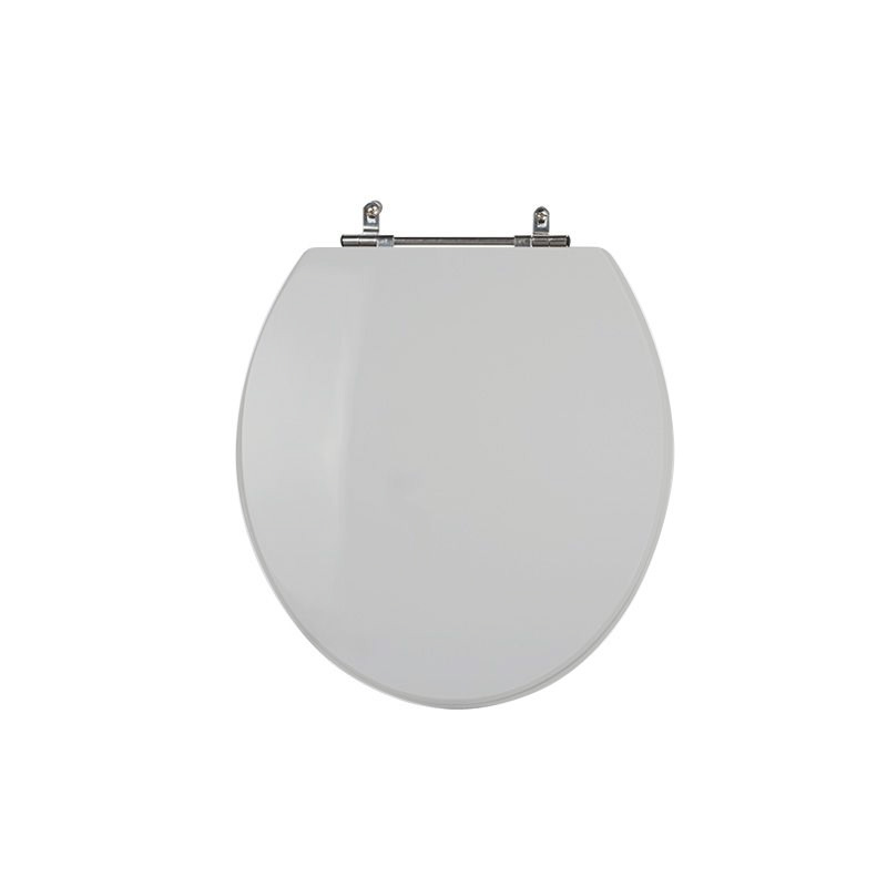 Assento Sanitário Poliéster para Louça Universal/Standard Aço Cromado (Reb. Oculto) Cinza Platina