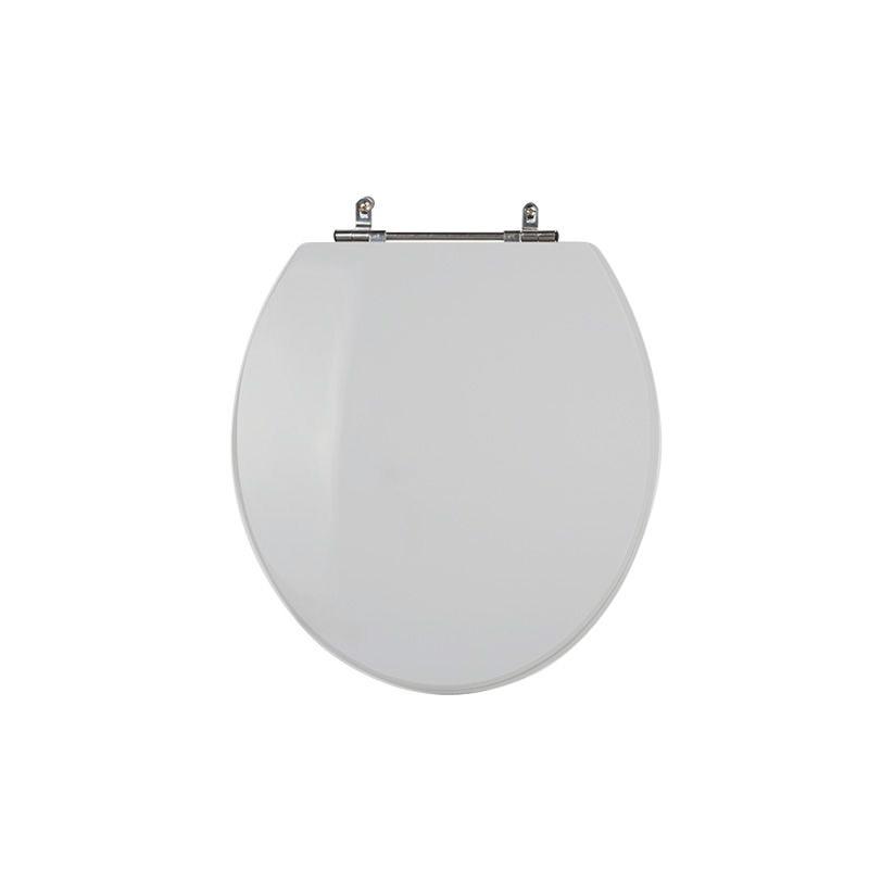 Assento Sanitário Poliéster para Louça Universal/Standard Aço Cromado (Reb. Oculto) Sterling Silver