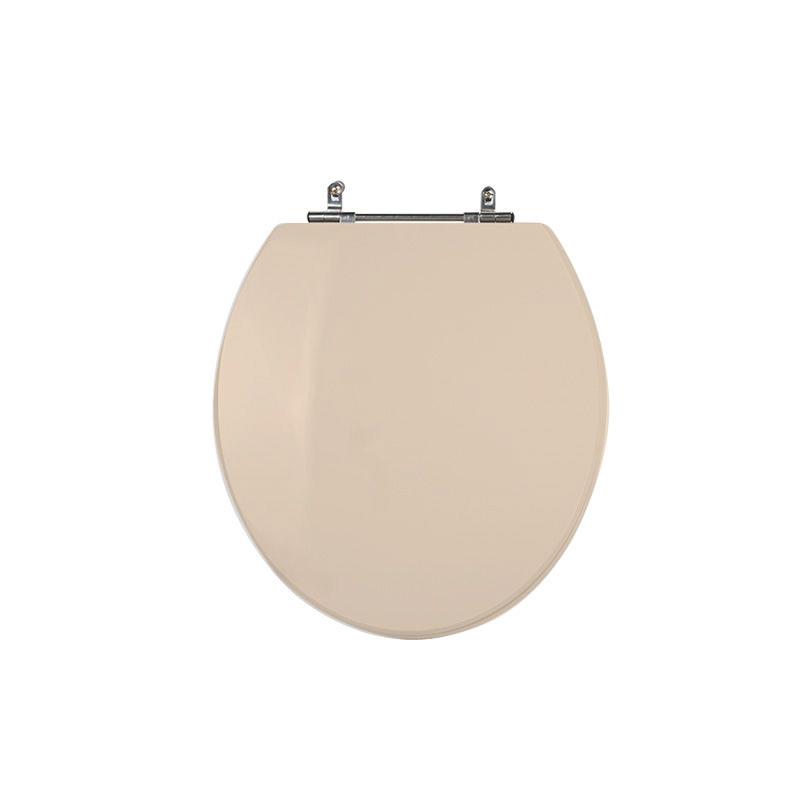 Assento Sanitário Poliéster para Louça Universal/Standard Aço Cromado (Reb. Oculto) Visone