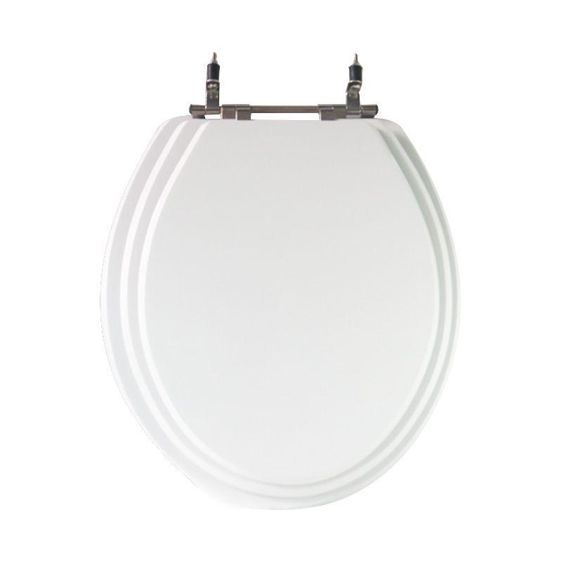 Assento Sanitário Poliéster para Louça Universal/Standard Aço Cromado Triplex (Reb. Oculto) Branco