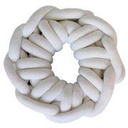 Almofada Knot Pillow Tricô Creative - Branca