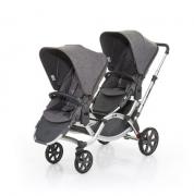 Carrinho de Bebê Para Gêmeos ABC Design Zoom Graphite Grey