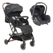 Carrinho de Passeio com Bebe Conforto Kiddo Sprint Preto