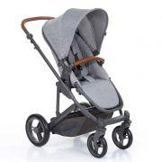 Carrinho Travel System ABC Design Como4 Woven Grey Com Moisés + Bebê Conforto + Bolsa