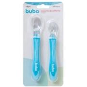 Conjunto de colheres em  silicone  azul - Buba