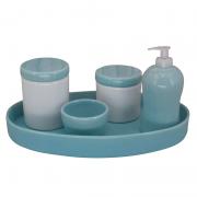 Kit Higiene 4 Peças - Bandeja Porcelana Oval