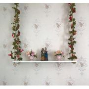 Prateleira balanco com flores