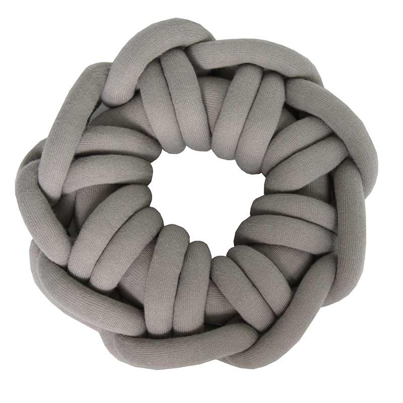 Almofada Knot Pillow Tricô Creative - Cinza Prata