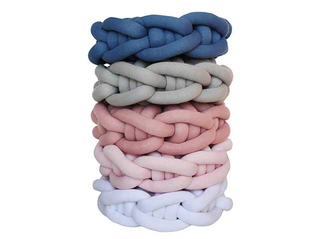 Almofada Knot Pillow Tricô Creative - Rosa Poupori