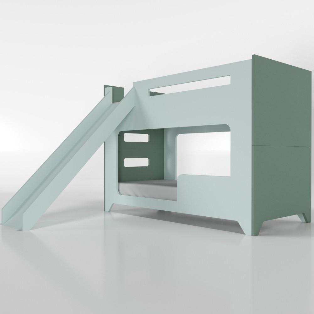 Beliche com escorregador colorida - sem cama auxiliar
