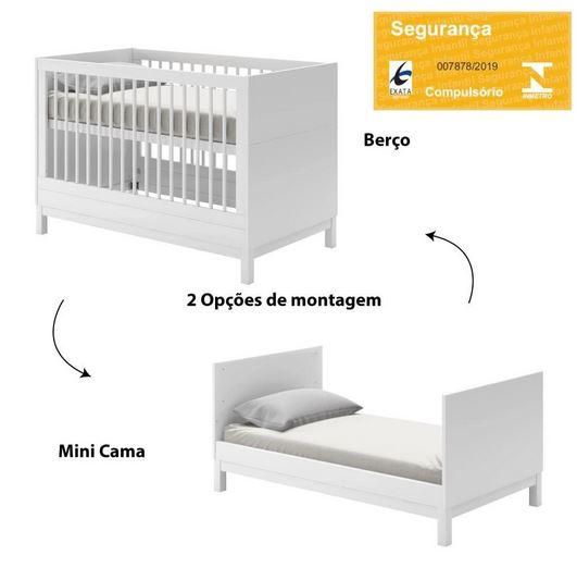 Berço cozy Branco - Quarter