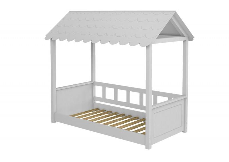 Cama casinha com telhado montessori solteiro - So berços