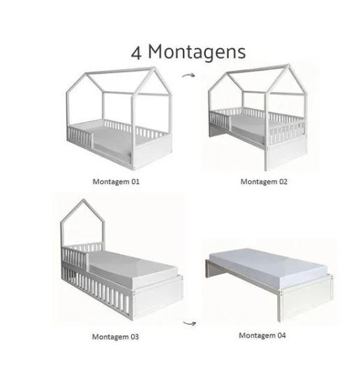 Cama Casinha Montessori 4 em 1 - Puppi
