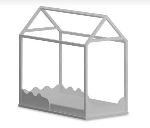Cama casinha montessori solteiro MÉDIO + colchão ortobom
