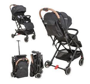 Carrinho de Bebe com Bebe Conforto e Base Kiddo Sprint Preto