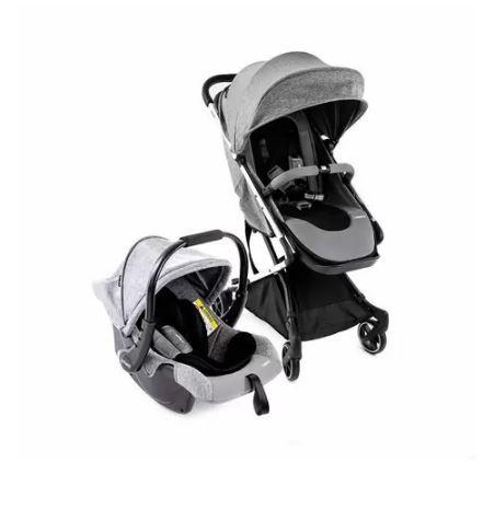 Carrinho E Bebê Conforto Legend TS Duo Grey Bold