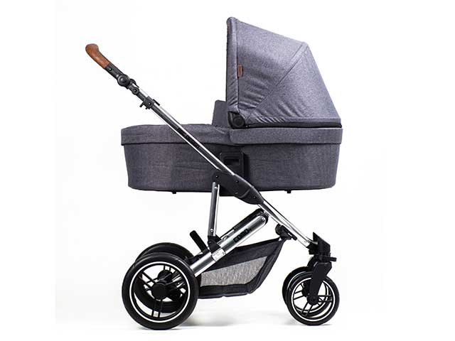 Carrinho Moisés Como 4 Asphalt Diamond Com Bebê Conforto + Bolsa - Abc Design