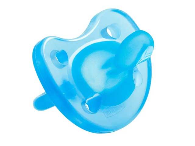 Chupeta de Silicone - Physio Soft - Ortodôntica - 6 a 12 Meses - Azul - Chicco