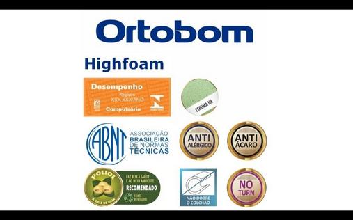 Colchão Ortobom High Foam - Solteiro