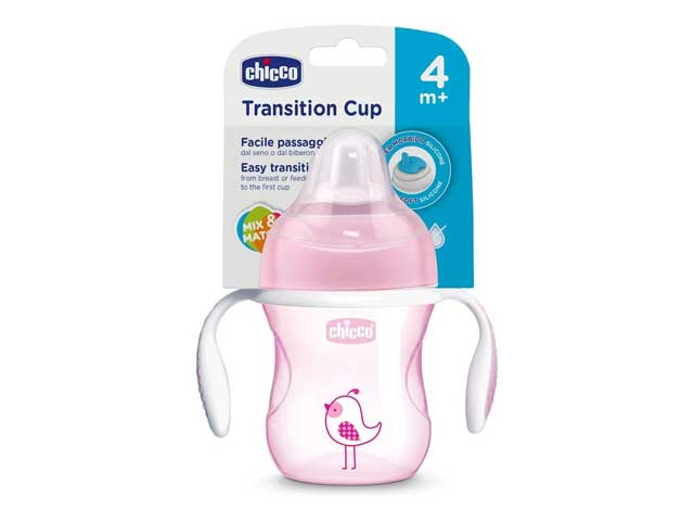 Copo Transition Cup 4M+ Menina -Chicco