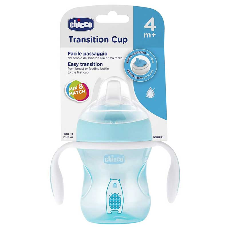 Copo Transition Cup 4m+ Menino - Chicco