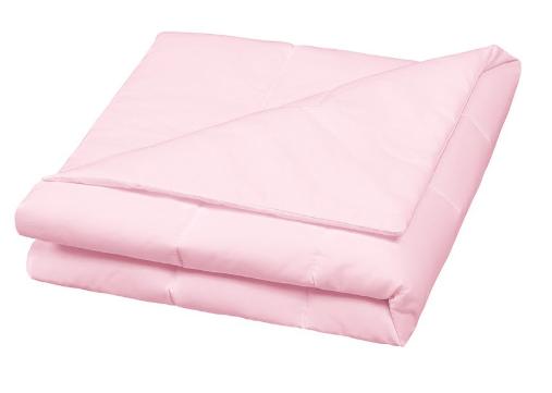 Edredom liso dupla face rosa