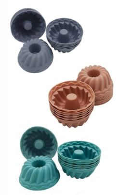 Kit 6 Forma Redonda Mini Para Pudim Bolinho Cupcake