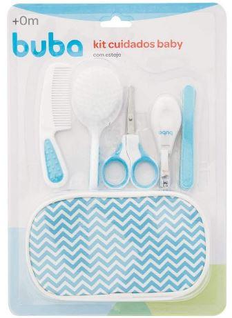 Kit Cuidados Baby Com Estojo, Buba, Azul