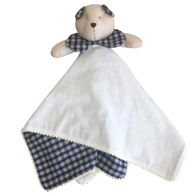 Naninha Malha para Bebê - Urso Chadrez