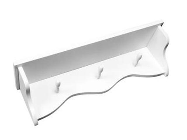 Prateleira provençal cabide branca kartoon