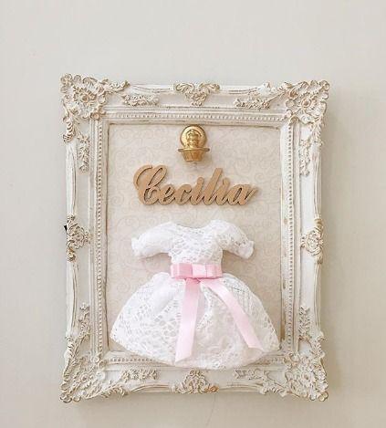 Quadro Maternidade Vestido Personalizado