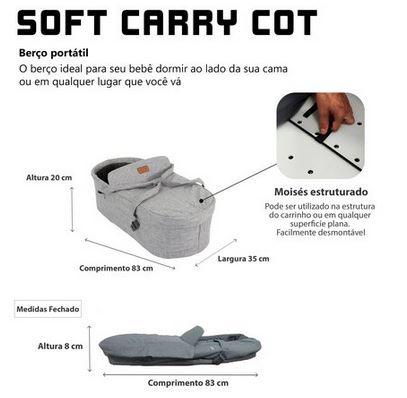 Soft Carry Cot Merano Woven Grey - ABC Design