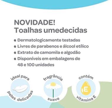 Toalhas Umedecidas - 100 unidades, Buba Care, Lenços, pacote de 100