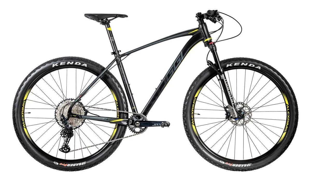 "Bicicleta 29"" OGGI Big Wheel 7.4 2020 - 12v Shimano SLX AMARELA"