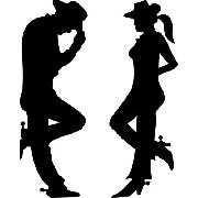 Adesivo Cowboy + Cowgirl 25cm de altura