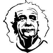 Adesivo Albert Einstein - Várias Cores