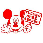 Adesivo Bebê a Bordo do Mickey - Alta Qualidade