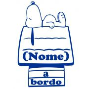Adesivo Bebê a Bordo - Snoopy - Mod.2