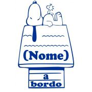 Adesivo Bebê a Bordo - Snoopy - Mod.4