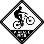 Adesivo Coleção Vinil Studio - A Vida É Boa! Bike