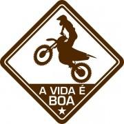 Adesivo Coleção Vinil Studio - A Vida É Boa! Motocross