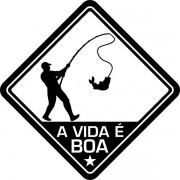 Adesivo Coleção Vinil Studio - A Vida É Boa! Pesca