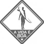 Adesivo Coleção Vinil Studio - A Vida É Boa! Surf