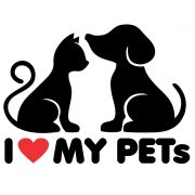Adesivo Eu Amo meus PETs