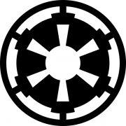 Adesivo Star Wars Império Galáctico 12cm - Várias Cores