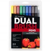 Canetas Dual Brush Tombow Kit c/10 canetas - Primárias