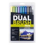 Canetas Dual Brush Tombow Kit c/10 canetas - Paisagísticas